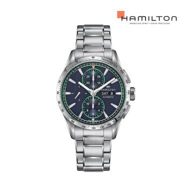 H43516141 브로드웨이 오토 크로노 43mm 블루 메탈 남성 시계