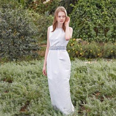[S BLANC] S2A698A_조엘르 샤틴 롱 드레스
