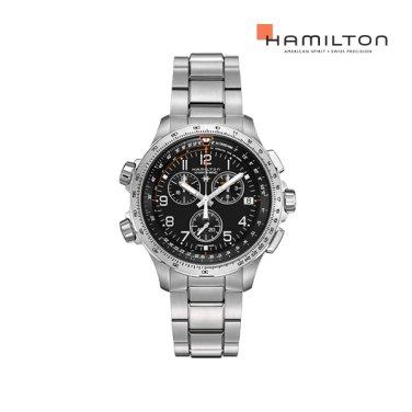 H77912135 카키 엑스윈드 크로노 쿼츠 GMT 블랙 메탈 남성 시계
