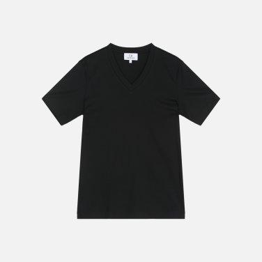 코튼 베이직 V넥 티셔츠 (VWMT1KK13AA0)