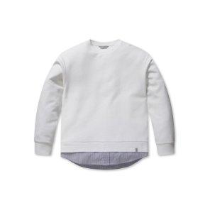 남성 밑단 셔츠 배색 맨투맨 EPA1TR1301