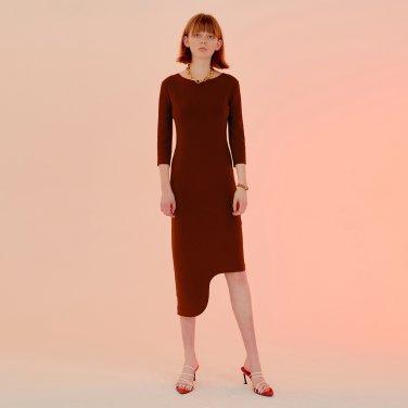 Rindi Line Point Dress_Brick Red (JC20SSOP30BR)