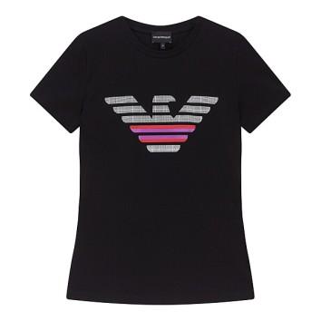 패턴드 로고 슬림핏 티셔츠