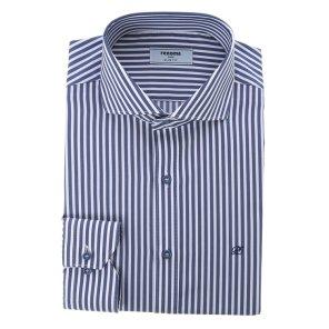스판 런던스트라이프 숏와이드카라 슬림핏 셔츠 RJFSL0131NYIL