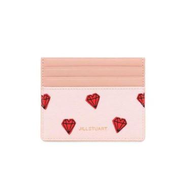[PETIT DIAMOND] 핑크 쁘띠다이아몬드배색 가죽 카드홀더 JAHO9F271P2