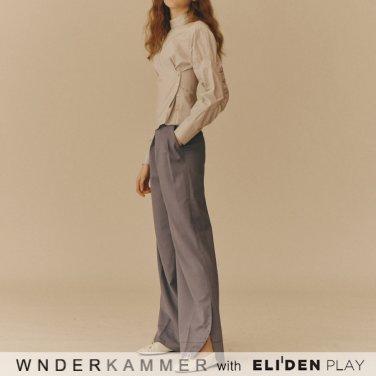 [분더캄머:WNDERKAMMER] Gabardine Span Trousers_Dark Blue (WK9F9-GSPT020)