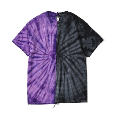 OAXACA TieDye Tee Shoulder Tape Purple / Black