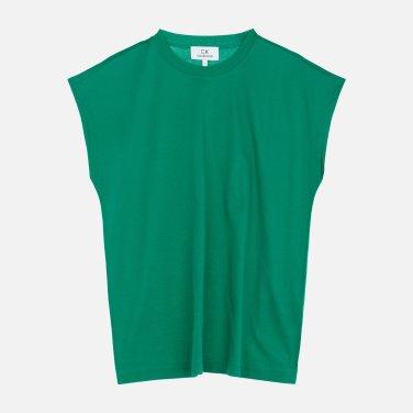 코튼 캡소매 이지 티셔츠 (VWMT1KK05AA0)