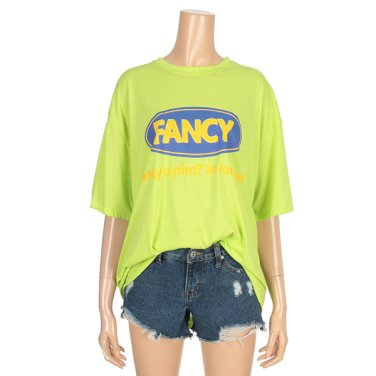 루즈핏 팬시 컬러 반팔 티셔츠 (IY9ME2260)