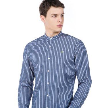 (남성) 스트라이프 헨리넥 레귤러핏 셔츠(CH151E-19A_166)