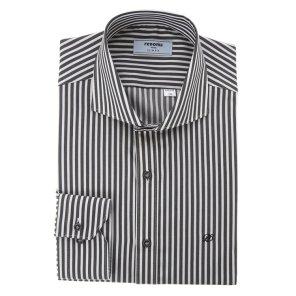 스판 런던스트라이프 숏와이드카라 슬림핏 셔츠 RJFSL0131BKIL