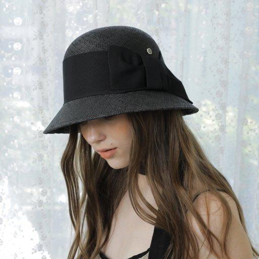 Summer cloche hat- Black