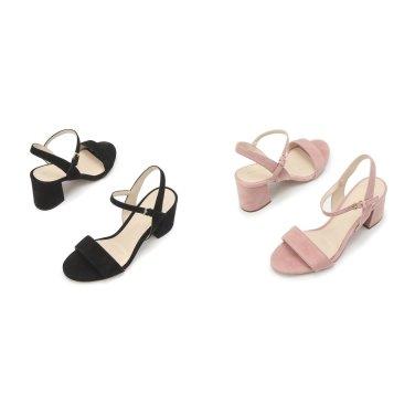 [Josie Block Heel Sandal 65mm] 여성 스웨이드 샌들 2종택일 CHSO9E217
