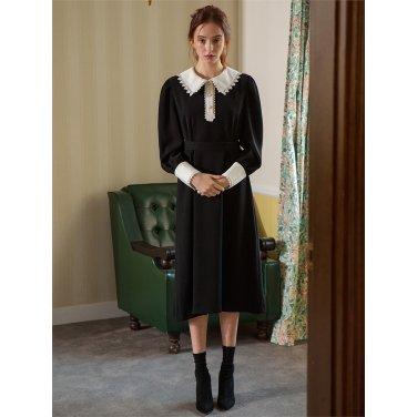 [일루스트리스일루전] BLACK WHITE LACE DRESS
