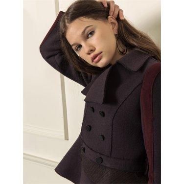 [까이에] Color block asymmetric jacket