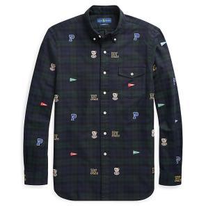 폴로 랄프 로렌 클래식 핏 플래드 옥스포드 셔츠(MNPOWOV16810346D85)