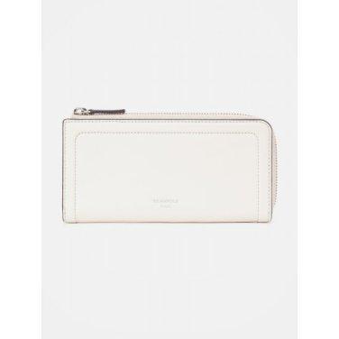 포켓 빈 지퍼 파우치 지갑 - Ivory (BE98A4M510)