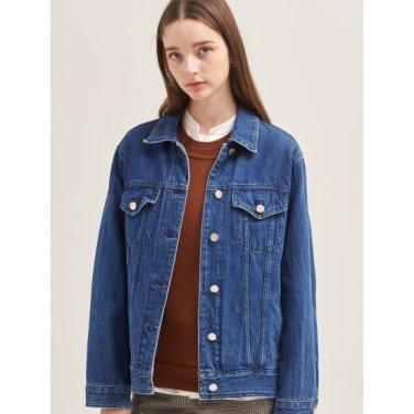 블루 포켓 포인트 데님 트러커 재킷 (BF9739U01P)