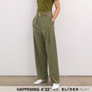 [HAPPENING 433] 20SS GOLD BUCKLE TAILORED PANTS_KHAKI (HP202PT01)