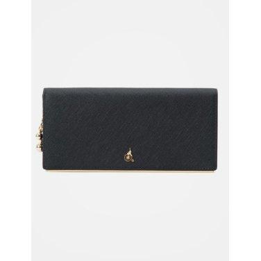 (여) 블랙 루시 2단 장지갑 (BE91A4T125)