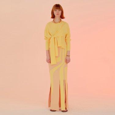 Flowin Skirt_Pale Yellow (JC20SSSK34PY)