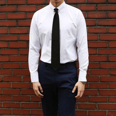 남성 2컬러 레귤러 카라 고정 핀 드레스 셔츠_SH0135