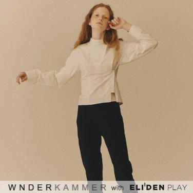 [분더캄머:WNDERKAMMER] Shirring Sleeve Blouse_Ivory (WK9F9-SSSH010)