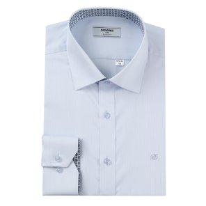 줄도비 카라프린트배색 슬림핏 셔츠 RJFSL0106BUIL