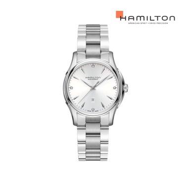 H32315111 재즈 뷰매틱 레이디 오토 다이아몬드 화이트 메탈 여성 시계