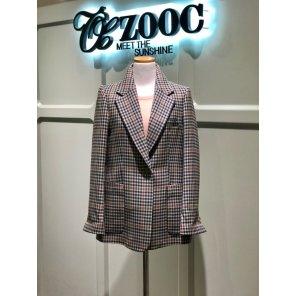 체크 패턴 싱글 재킷(Z201MSF002)