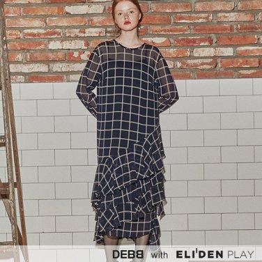 [뎁] 네이비 윈도우페인 드레스 (DACMA4001M)
