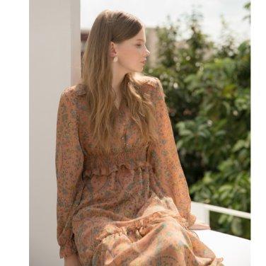 [클렛]Paisley Smoke Dress 2color (19FWCLET17E)