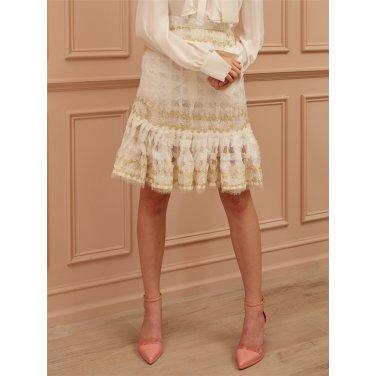 [까이에] Embellished Sequined Skirt