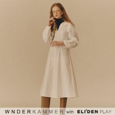 [분더캄머:WNDERKAMMER] Cotton Flared Dress_White (WK9F8-CFOP010)
