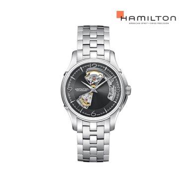 H32565185 재즈마스터 오픈하트 40mm 그레이 메탈 남성 시계