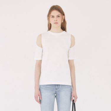 19SS KEYHOLE DETAIL T-SHIRT - WHITE