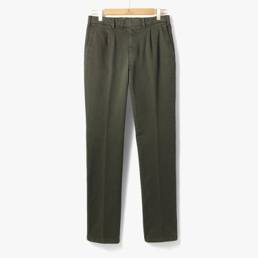 [TBRM]CLASSIC COTTON PANTS (WASHED) OLIVE/TB92M30003A94