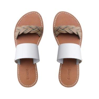 솔루도스 여성 슬리퍼 슈즈 Braided Slide Sandal SSDF171FBSS