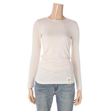 [여성]싱글 긴팔 기본 슬림 티셔츠(T196MTS131W)