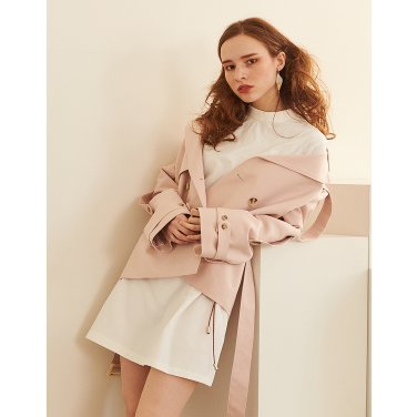 Short Trench Coat _ Pale Pink