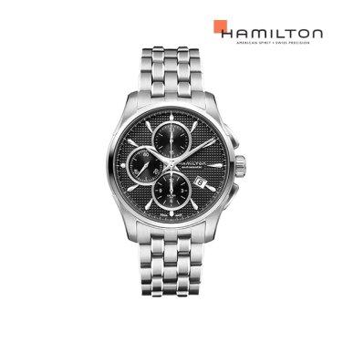 H32596131 재즈마스터 오토크로노 블랙 메탈 남성 시계