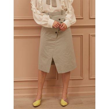 [까이에] Layered-Effect Asymmetric skirt