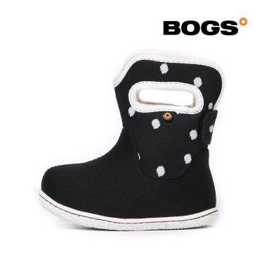 [보그스] 베이비부츠 - 도트 블랙 유아 겨울 방한부츠