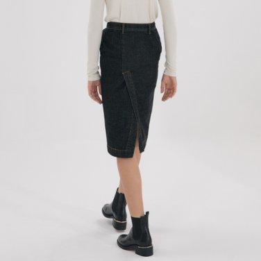Denim Twill Skirt - Dark Grey