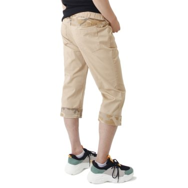 (UNISEX) CAMO Roll-up Capri Pants (BEIGE)