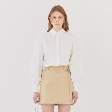 19SS  BACK-TIE BLOUSE - WHITE