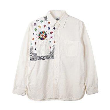 OAXACA Chambray Bandana Shirt White/Teracota Bandana