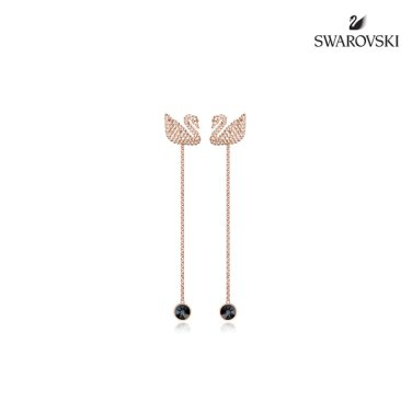 Iconic Swan 로즈골드 롱 이어링 5373164