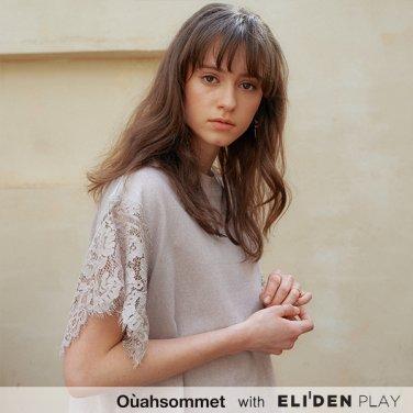 [우아솜메] Ouahsommet Lace Wing T-Shirt_BG (OBFTS012A)