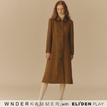 [분더캄머:WNDERKAMMER] Mohair Blended Coat_Olive Khaki (WK9F0-MBCT060)